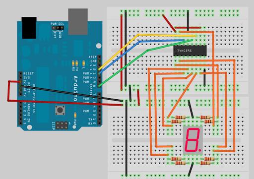 Arduino 筆記 – Lab13 使用 74HC595 與七段顯示器製作倒數功能-Arduino中文社區 - Powered by Discuz!
